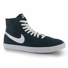 Nike Primo Suede Mid Hi Ankle Casual Trainers Mens Navy/White Sneakers Shoes