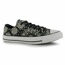Converse All Star Ox Bandana Print Casual Trainers Womens Black Sneakers Shoes
