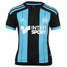 Adidas Olympique de Marseille Away Jersey 2015 2016 Juniors Black/Blue Shirt Top