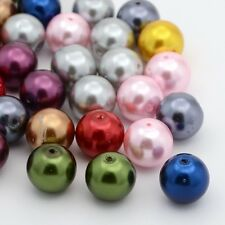 DIY Jewelry Craft Mixed Dyed Glass Pearl Round Beads 4mm/6mm/8mm/10mm/12mm/14mm