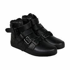 Radii Straight Jacket VLC Mens Black Leather High Top Zip Up Sneakers Shoes