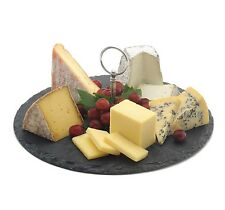 30cm Slate Food/Cheese/Tea Board Presentation Plate with Handle Cake Stand Gift
