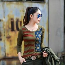 Outdoor Casual T-shirt Army Camouflage Long Sleeve Shirt Slim Sweater Blouse Top