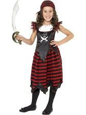 Girls Pirate Skull and Crossbones Costume - World Book Day Fancy Dress - 3 Sizes