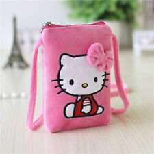 New Hellokitty Plush Mobile phone Messenger Bag Purse AA-1255