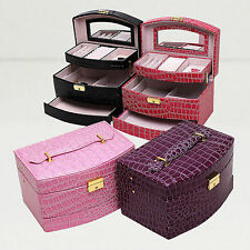 Large Jewellery gift box Storage Organizer Bracelet Ring Necklace Display Case