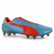 Puma Evospeed 1.2 FG Firm Ground Football Boots Mens Blue/Orange Soccer Cleats