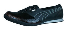 Puma Biker 5000 Womens Leather Sneakers / Shoes - Black - 8404