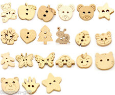 Wood Sewing Buttons Scrapbooking M0270