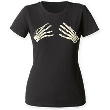 The Misfits Punk Rock Band Distressed Skeleton Hands Adult T-Shirt Tee