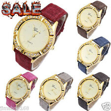 Fashion Geneva Womens Watches Ladies Diamond Leather Analog Quartz Wrist Watch