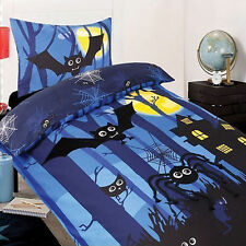 Cubby House Kids Nocturnal Bats Applique Quilt Doona Cover Set - SINGLE DOUBLE