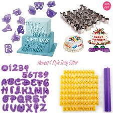 4x Cutter sets -ALPHABET Letters & NUMBERS- Icing Cake decorating Cookie Fondant