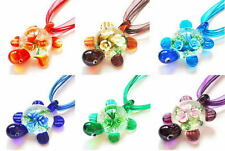New Jewelry Charms Turtle Lampwork Glass Pendant Necklace Handmade Women Lady