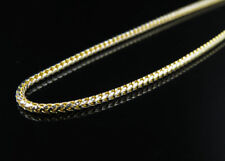 Solid 10K Yellow Gold 1.5 MM Diamond Cut Franco Box Chain Necklace 18-30 Inches