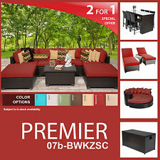 Premier 20 Piece Outdoor Wicker Patio Furniture Package PREMIER-07b-BWKZSC