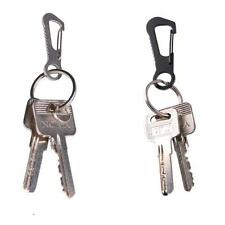 Stainless Steel Carabiner Anti-theft Hook Buckle Clip Keychain &Bottle Opener J