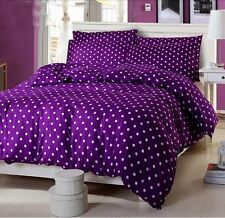 100% Cotton Purple Bed Doona Duvet Quilt Cover Set Or Sheet Set / Fitted /Flat