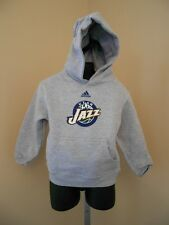 New- Utah Jazz Toddler sizes 2T-3T-4T Adidas Gray Pullover Hoodie Sweatshirt