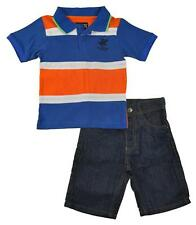 Beverly Hills Polo Club Toddler Boys Striped Polo 2pc Short Set Size 2T 3T 4T