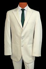 Modern Cream Jean Yves Diamond White Prom Tuxedo Package Coat Pants Grooms Tux