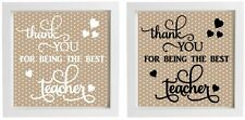 Vinyl Sticker Large DIY Teacher Gift, Personalised thank you, End of Term