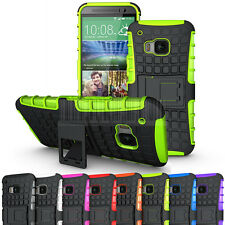 Rugged Armor Hard Shockproof Hybrid Stand Case Heavy Duty Cover For HTC One M9