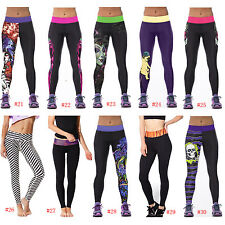 Trousers Leggings Tiger Black Women Sports Yoga Gym Jogging Training Skinny