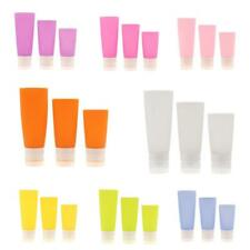 3Pcs Silicone Travel Packing Press Bottle for Lotion Shampoo Bath Container