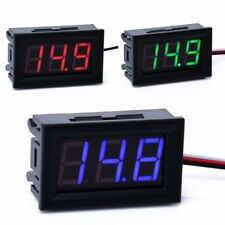 0.56inch LCD DC 0-30V Red/Blue/Green LED Panel Meter Digital Voltmeter with wire