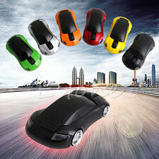 2.4G 1600DPI Mouse USB Receiver Wireless Light LED Shape Car Optical Mice