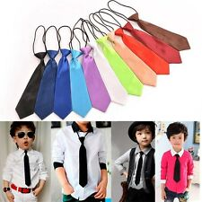 Satin Elastic Neck Tie for Wedding Prom Boys Children School Kids Ties Nice EF