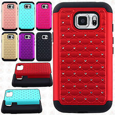For Samsung Galaxy S7 Active HYBRID IMPACT Dazzling Diamond Case Phone Cover