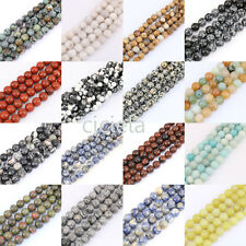 Natural 1 Bunch Loose Spacer Bead Stone Jewelry Multi Style Beads 4/6/8/10/12mm
