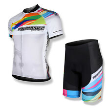 SPAKCT Cycling Suits Short Sleeves Jersey & Shorts Set Pro​vence Black White