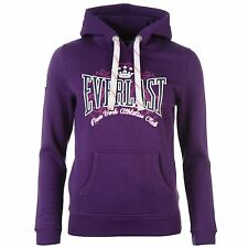 Everlast Pullover Hoody Womens Purple Hooded Sweatshirt Sweater Jumper Top