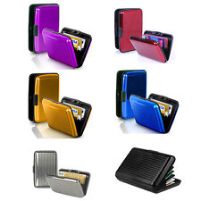 Fashion Waterproof Business ID Credit Card Wallet Holder Metal Pocket Case Boxes