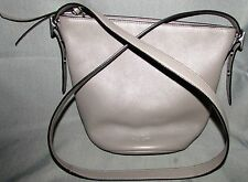Vintage COACH New York Taupe Leather Handbag Shoulder Bag Purse NICE Condition
