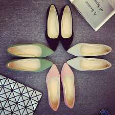 Women Summer Plain Pointed Shoes Casual Slip-on Ballet Flats Comftable Loafers