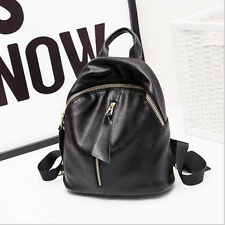 Fashion Soft Top Genuine Cow Leather Shoulder Women Backpack Lady Bag Two Size