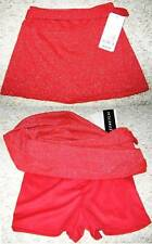 AMY BYER Red Coverup A Line knit Stretch Shimmer Shorts Skort Skirt Girl 5 NWT