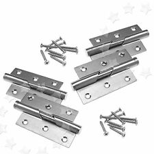 "Pair of Rising Butt Left/Right Handed Lift Off Door Hinge 3"" Stainless Steel"