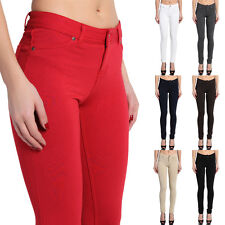 TheMogan Basic Comfortable Soft Jersey Fitted Skinny Trouser Pants