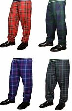 Great Gift: Baggy Casual Donnelli's Mens Tartan Trousers/Pants Size L/XL