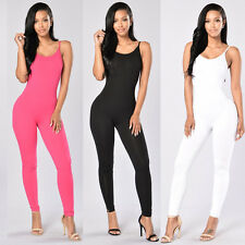 Fashion Summer Women Sexy Sleeveless Stretch Long Rompers Casual Party Bodysuits