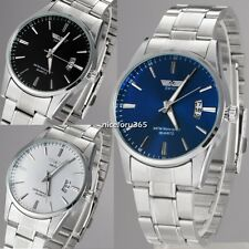 Fashion Stainless Steel Luxury Sliver Sport Analog Quartz Mens Wrist Watch N4U8