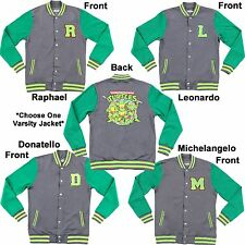 Adult TMNT Teenage Mutant Ninja Turtles Raph Mike Don or Leo Varsity Jacket