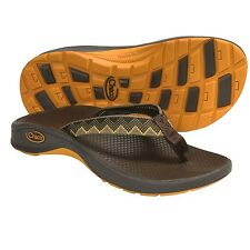 NEW nwt Chaco Bit-O-Flip Ecotread Sandals Kid's Charlie Flip-Flops  Brown/ Orang