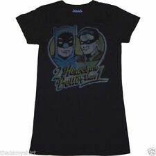 New Junk Food Batman & Robin 2 Heroes are Better Than 1 Juniors T-Shirt in Black