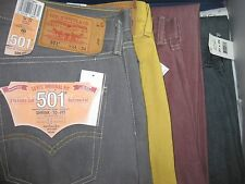 NWT  Levi's Mens 501 Original Shrink-to-Fit Jeans STRAIGHT LEG BUTTON FLY